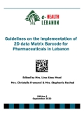 Guidelines-Implementation of the 2D BarCode on Pharmaceuticals